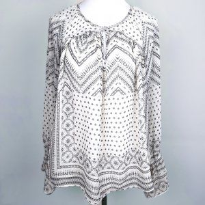 Dylan boho poet's blouse with tribal print